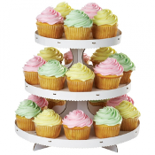 Cupcake-Etagere mit Cupcakes